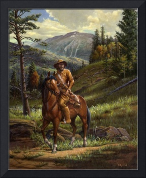 Jim Bridger Mountain Man Western Landscape Art
