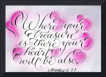 Matthew 6 scripture calligraphy art