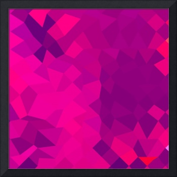 Medium Violet Red Abstract Low Polygon Background