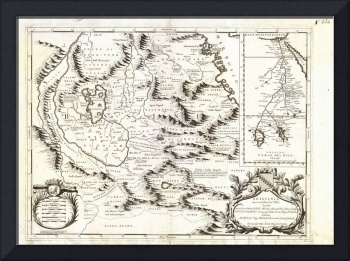 1690 Coronelli Map of Ethiopia Abyssinia