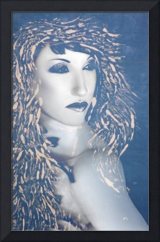 Desdemona Blue - Self Portrait - Mixed Media