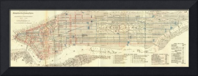 Vintage Map of The NYC Railways (1899)