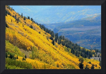 Yellow and Blue Mountainside Mosaic