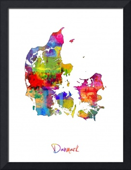 Denmark Watercolor Map