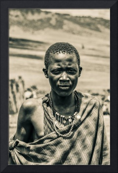 4300 Portrait of Young Maasai Tanzania East Africa