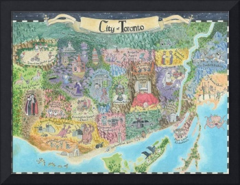 Map of Toronto 2013 Might and Magic Style Print of