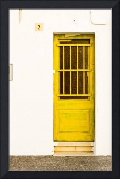 Yellow Door Of Catalunya Spain