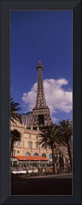Low angle view of a hotel Replica Eiffel Tower Pa