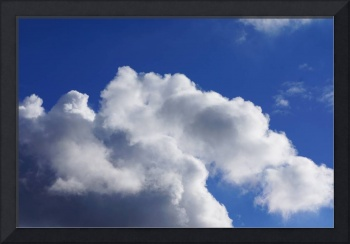 Blue Sky Art prints White Clouds Canvas Framed