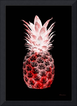 14L Artistic Glowing Pineapple Digital Art Red