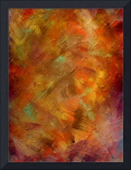 Copper and Blue Textured Art