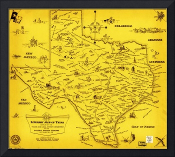 A Literary map of Texas by Dallas Pub Lib (1955)