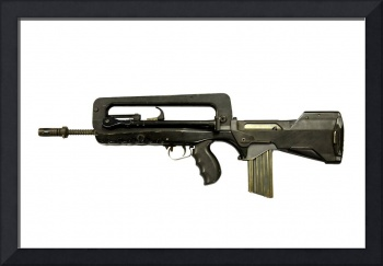FAMAS 5.56mm assault rifle. The FAMAS is the servi
