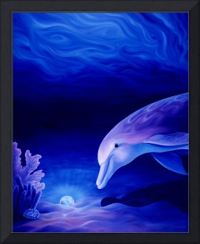 Dolphin and Reef Oil Painting