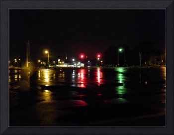 street lights in the rain 1
