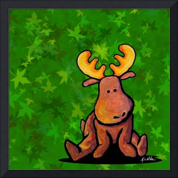 Groovy Moose On Green