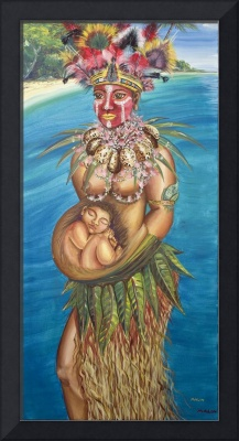 New Guinea Woman with child