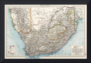 Vintage Map of South Africa (1900)