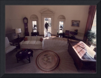 Ronald Reagan Leaving the Oval Office