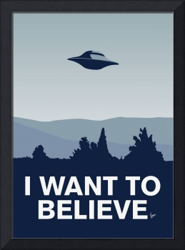 My I want to believe minimal poster-xfiles