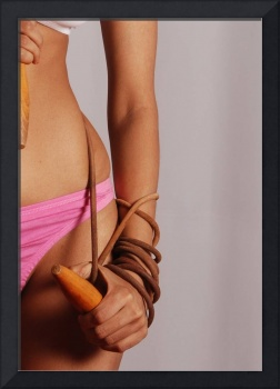 Female Model's Hand Wrapped Up