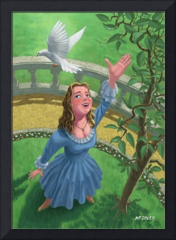 princess releasing bird