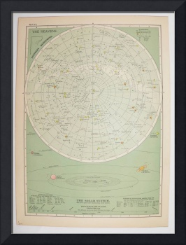 Celestial Map of the Northern Hemisphere and Diagr