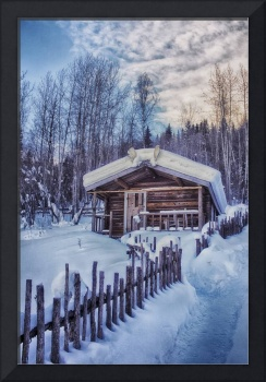 Robert Service Cabin Winter Idyll