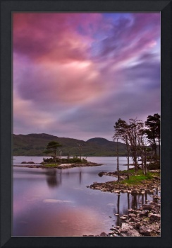 Sunset at Loch Assynt, Scotland