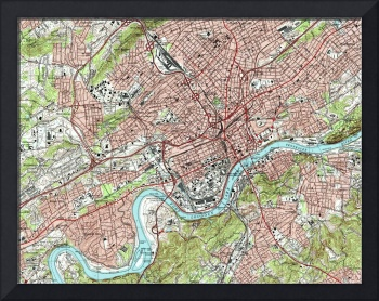 Knoxville Tennessee Map (1978)