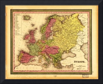 Map of Europe (1849)