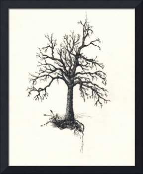 The Tree - Ink on Parchment