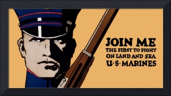 Join Me Land Sea US Marines