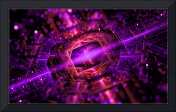 Bright abstract violet star