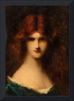 JEAN-JACQUES HENNER (FRENCH 1829-1905) Portrait of