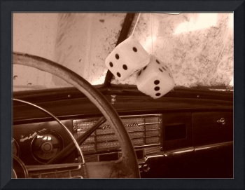Dice in a Classic Car