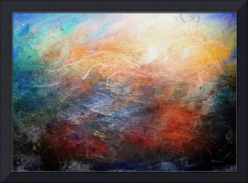 15d Abstract Seascape Sunrise Painting Digital