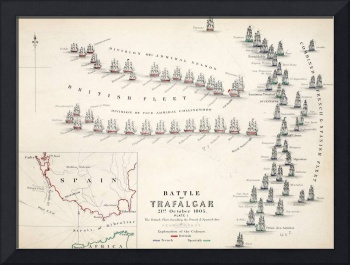 Map of the Battle of Trafalgar
