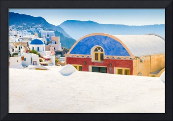 Colorful Building in Oia