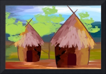 two huts