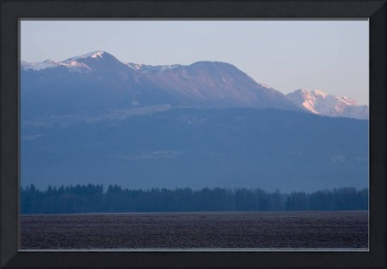 Krvavec and the Kamnik Alps at dawn