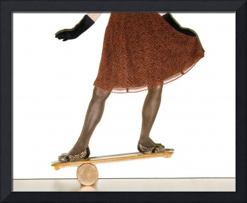 woman on balance board