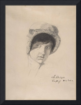 The Head of a Young Woman Wearing a Bonnet , Max K