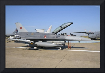 Side view of a Turkish-built F-16 aircraft