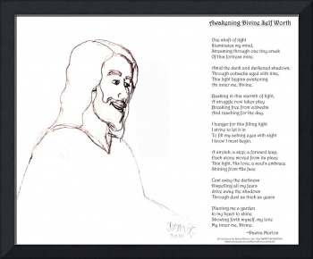Awakening Divine Self Worth, sketch of Jesus 2