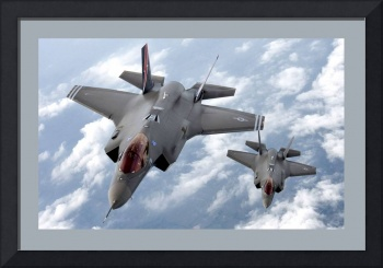 2  F 35 Lightening Attack Fighters