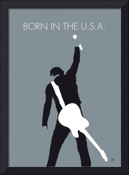 No017 MY Bruce Springsteen Minimal Music poster