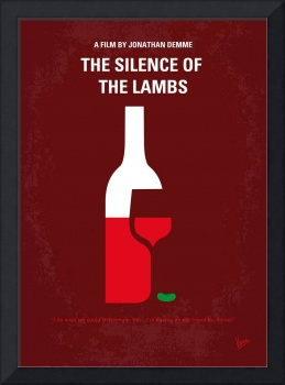 No078 My Silence of the lamb minimal movie poster