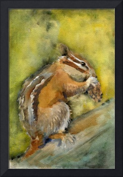 Animal art | watercolor | Chipper Friend