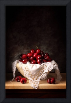 Cherries and clothe